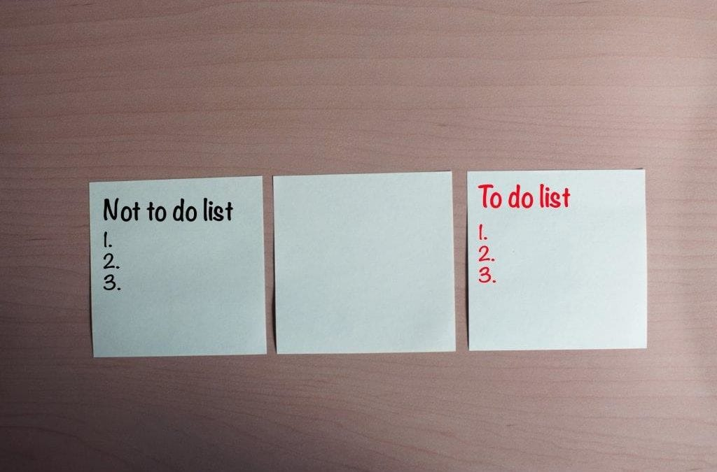 "The key to productivity is… ""a Not-To-Do-List"""